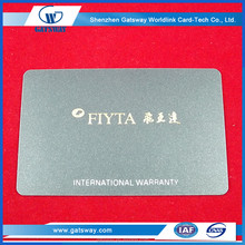 Custom Printing Plastic PVC Warranty Card Making Factory