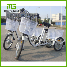brushless motor pedal assisted electric cargo tricycle