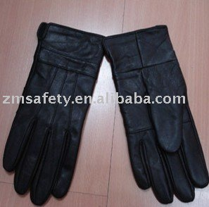 Patehed leather fashion gloves