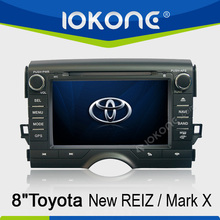 Toyota New Reiz/ Mark X double din touch screen Car DVD player GPS navigation system with BT, TV, RDS,IPOD
