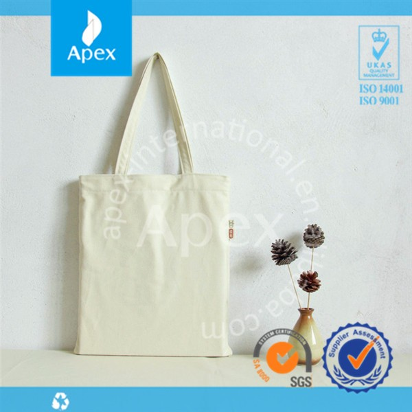 Promotional logo printed blank canvas tote bag