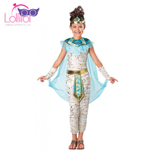 Cheap Halloween carnival costume cleopatra cosplay girls dress up clothes for kids