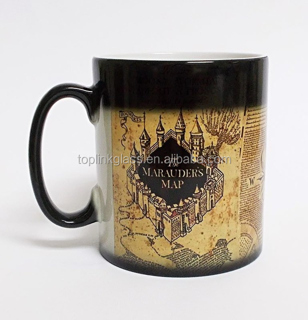 Authentic H P Heat Sensitive Transforming Color Changing Mug (Marauder's)