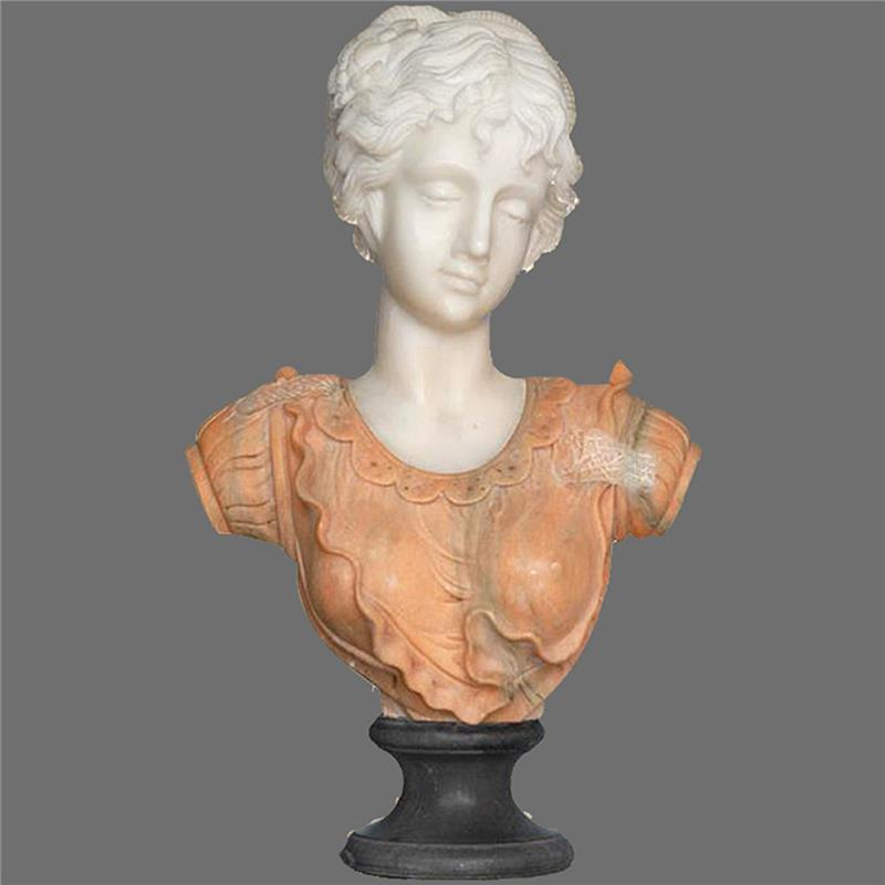 Customized Size Hand Carved stone carving girl marble bust sculpture for sale