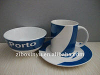 ZIBO XINYU XY-0738 White and Blue Color Ceramic Dinner Sets , tableware
