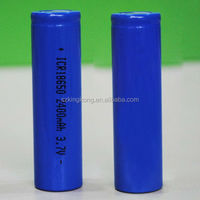 18650 lithium ion battery pack 3.7V 2400mAh for electronic toys etc