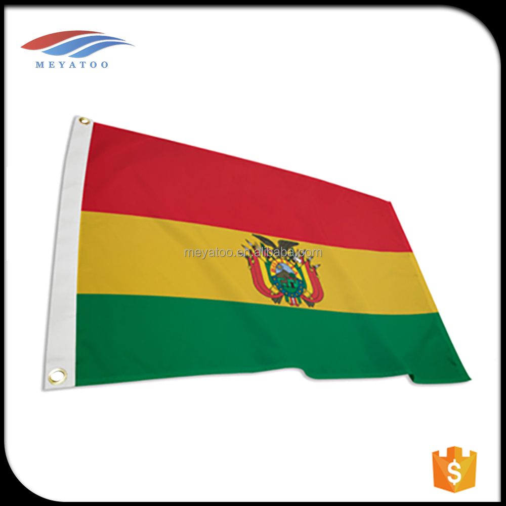 red flag yellow green bolivia flag Printing banners