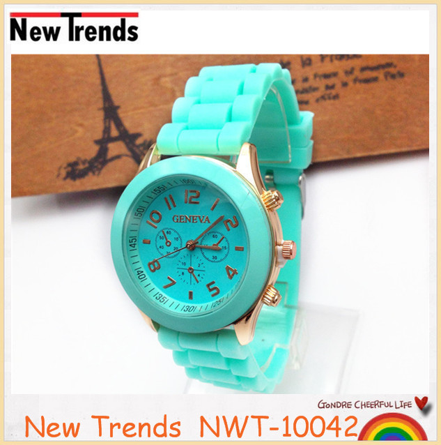 Ladies quartz select fashion custom made cheap colorful silicon rubber watch