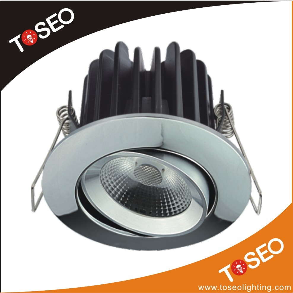 Die-casting Alu round adjustable ceiling led lighting