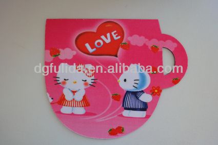 personal lovely cute coffee design cup coaster rubber