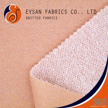 EYSAN Cotton Poly Shiny Silver Thread Lurex French Terry Knit Fabric