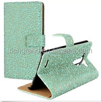 high quality magnet button Wallet PU Leather Phone Case Cover For LG G3 With card Holder