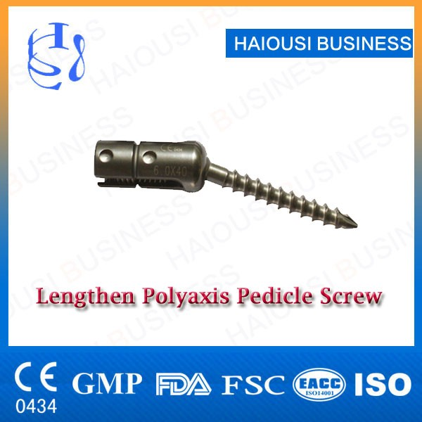 Spine Polyaxis Lengthen Pedicle Screw
