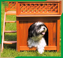 Luxury Wooden Pet House with balcony in/outdoor