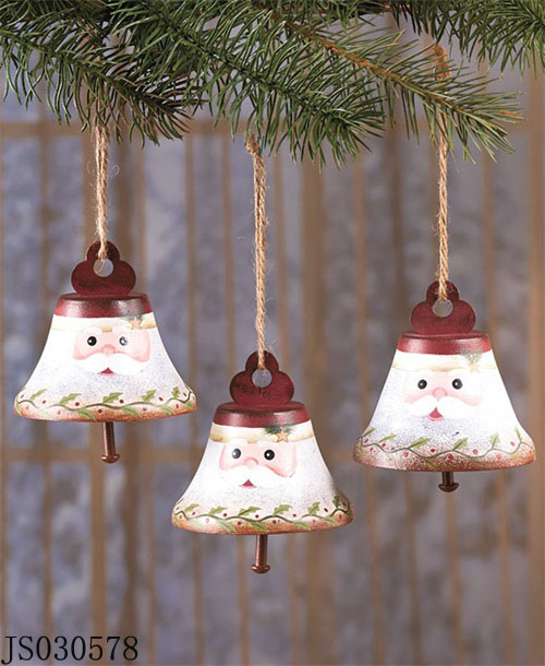 2016 New Christmas decoration, Set of 3 Santa claus bell hanging