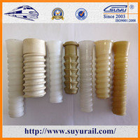Suyu Concrete Inserted Plastic Dowel rail fastener sleeper