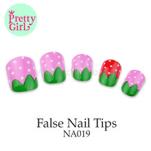 red/pink Long Fake Nail Art Women Lady Girls Manicure Full Cover False Nails NA019