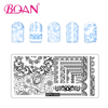6*12 cm Nail Art Stamp Plate With Beautiful Flowers Pattern Series for DIY Nail Painting Tool OEM Stamping Plate