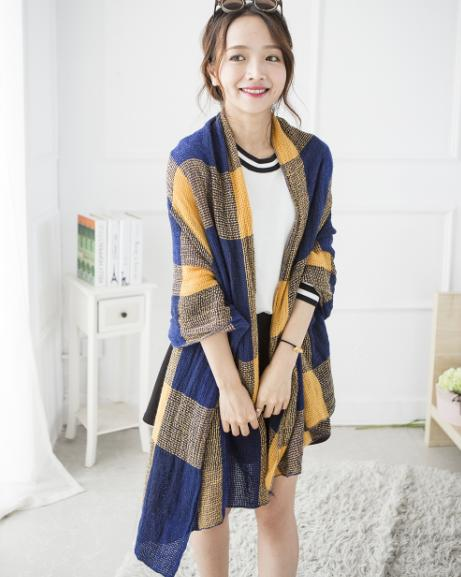 2015 Hot Selling Pashmina plaid Scarf Wool Cashmere Shawl for women