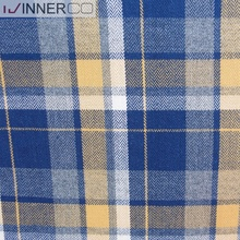 Mens check shirts dyed yarn cotton flannel fabric