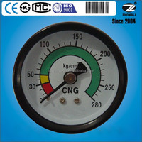 280 kg/cm2 steel case high pressure gauge for cng natural gas gauge home use back type or bottom type