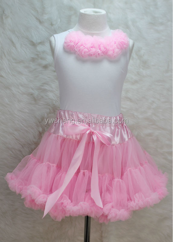 High Quality Kids Fluffy Tutu Dress Girls Skirt Any Solid Colors Pettiskirt Sets