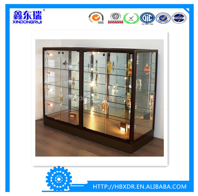 China OEM aluminum factory high quality aluminum frames profile for glass perfume display cabinet