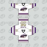 Custom OEM dye sublimation ice hockey jersey design