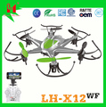 Hot toys for christmas 2016 LH-X12WF 2.4G 6 Axis support ISO & Android drone camera,drone with camera wifi,drone fpv camera