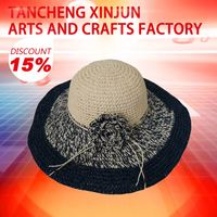 Custom Hand Made Straw Hats Promotion Paper Straw Hat