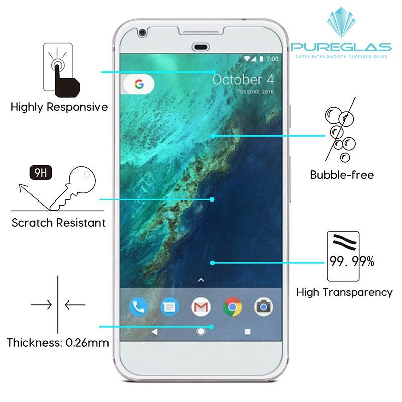 2016 cell phone screen protector for Google Pixel magic smart touch tempered glass screen protector for for Google Pixel 5 inch