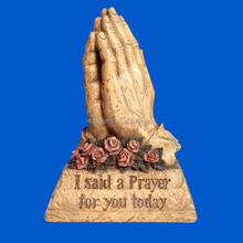 Polyresin praying hand, resin hand with prayer saying