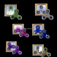 2017 Fidget Spinner Electroplate Colour Hand Spinner Plastic EDC For Autism And ADHD Children Toys Tri-Spinner Fidget Toy HandS