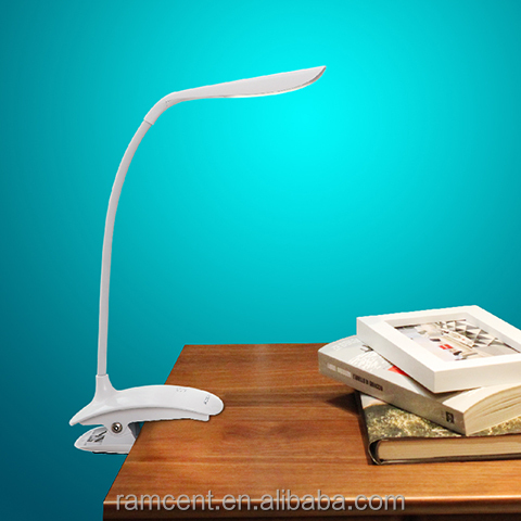 China manufacturer creative led clamp table lamp with dimmer