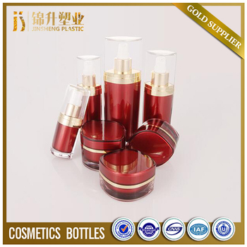 Factory supplier acrylic double wall cosmetic bottles and jar