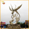 Garden Folk Art Stainless Steel Bird Sculpture for Decoration