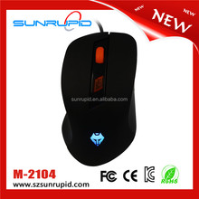 NEW 2400 DPI USB Wired Mouse Mice LED Optical Gaming Mouse Mice computer mouse 6 Button 5D Scroll Wheel Black