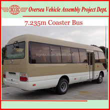 seven meters long 25 to 30 passenger seats coaster minibuses for sale (also available for assembling)