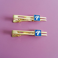 Company Imprint Logo Gold Tie Bar Clip