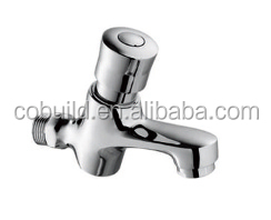 KS-01 top quality rest room fitting accessory single hole self colsing solid copper bathroom time delay faucet
