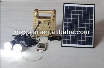 2014 new design Hot Selling 10W Portable solar lighting system for home solar lighting kit With Mobile Changer ledbulb mini fan