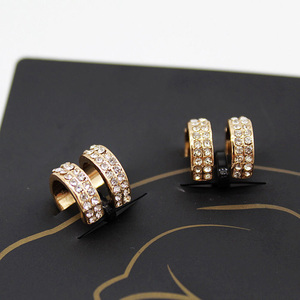 Fashion Wholesale 2Pcs Gold Silver Color Exquisite Crystal Ear Cuff for Women Girls No Hole Clip Earring Jewelry