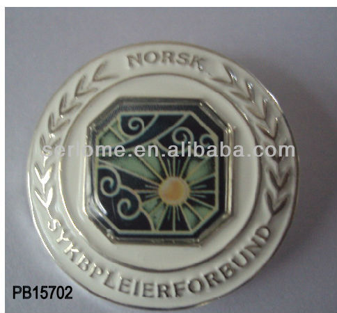 Norsk Soft Enamel Round Lapel Pin