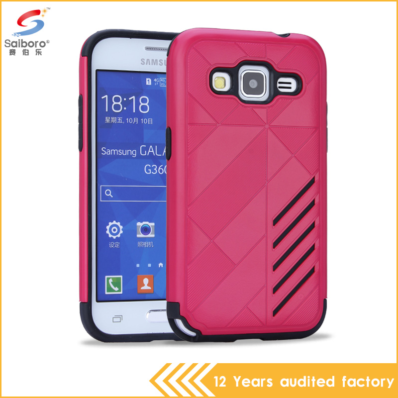 Factory Price Hot Selling pc tpu slim armor red color phone back case for samsung galaxy core prime cover
