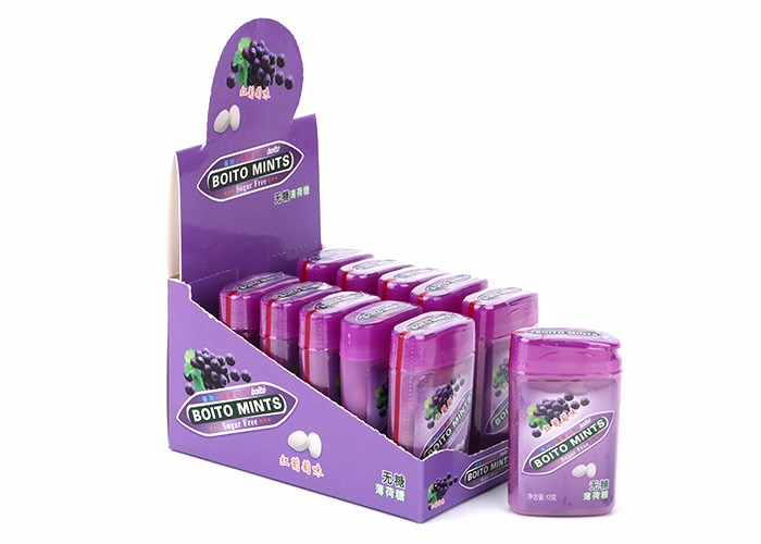 2017 Best selling click clack mint tins peppermint candy in box for wholesale