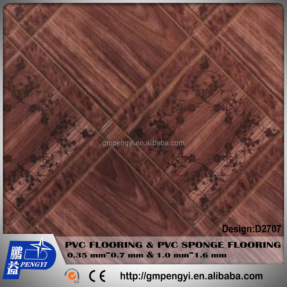 pvc vinyl flooring roll marble wooden designs factory hot sale 0.35mm
