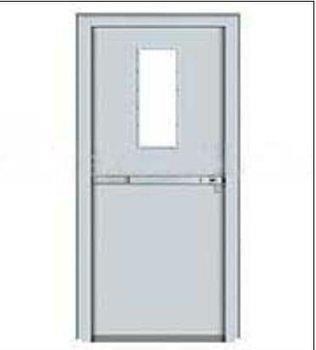 Fire rated steel door with push bar commercial door unique for 1 hour fire door specification