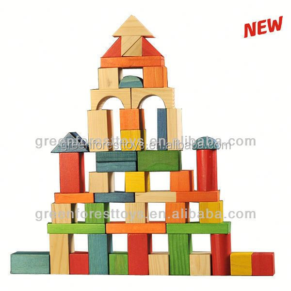 50pc Wood block set