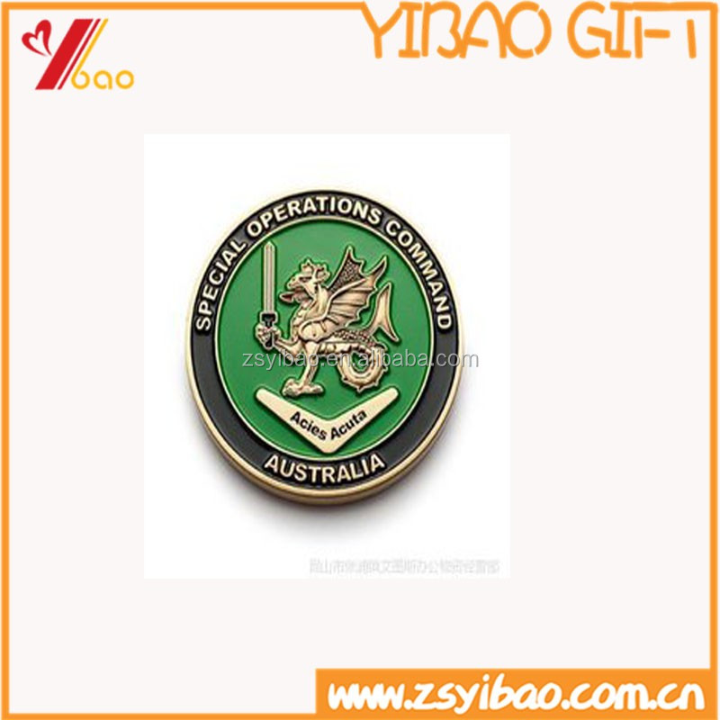 Newest custom 3D/2D logo metal coins plated gold / silver for souvenir/promotion
