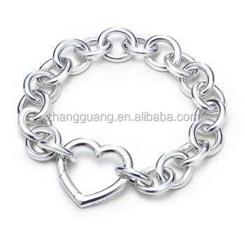 Metal Silver Plated Chain Bangles Wholesale